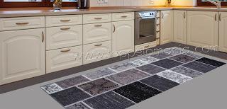 tappeto passatoia cucina bagno nero e grigio | Cuscini Low Cost